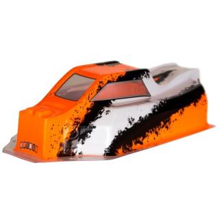 BX8SL Bitty design černo/bílo/oranžová lexanová karoserie