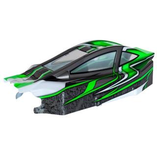 BX8SL RUNNER Bitty design zelená lexanová karoserie