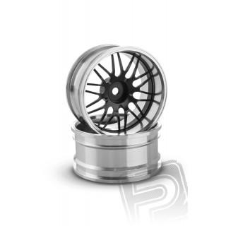Hliníkový disk 10 paprsků, offset 9 mm - černá barva (2 ks)