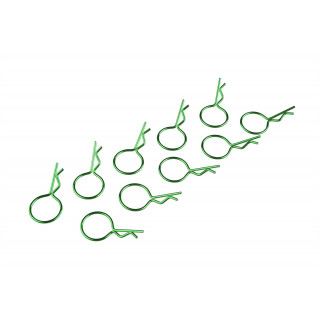 Sponky karoserie krátké zelené (10 ks)