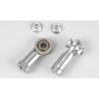 Alu/ocelový kloubek o průměru 5mm/M8, 2ks.