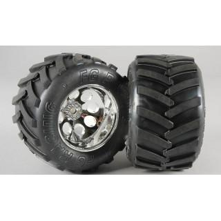 Monster Truck nalepené gumy, S směs, 14mm, 2ks.