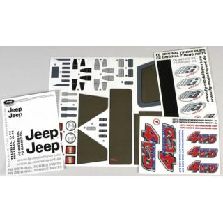 Nálepky pro karoserii Jeepu 4WD, sada