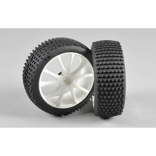 Mini Pin 170 H směs gumy nalepené na bílých diskách, 2ks.