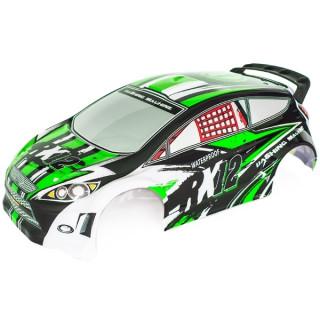 RX12 zelená lakovaná lexanová karoserie