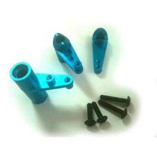 Alu páky servo saver, modrý, 1sada