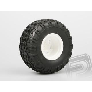 Nalepené Monster gumy na bílých diskách, 1:10, 2ks.
