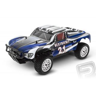 HIMOTO Short Course 1/10 scale RTR 4WD 2,4GHz - modré
