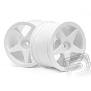 Disk kola, 5 paprsků, bílý (60x38mm/2ks)
