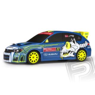 Micro RS4 Subaru WRX STI s 2,4GHz RC soupravou, kar. NO11 Sverre Isachsen