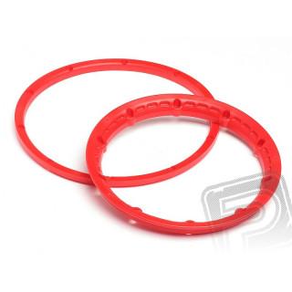 Pojistný kroužek kola, červený 2ks