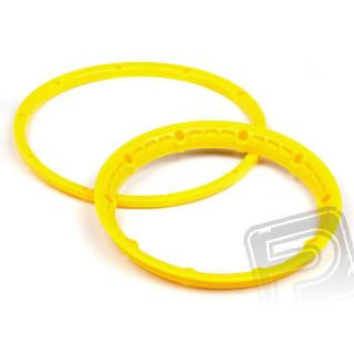 Pojistný kroužek kola, žlutý 2ks
