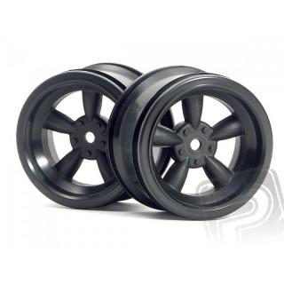 VINTAGE 5 paprskové disky 31mm, černé (6mm OFFSET)