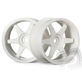 TE37 disky 26mm Bílé (6mm offset) 2ks