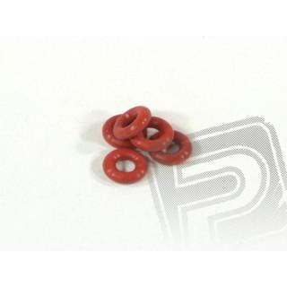 """Silikonový """"O"""" Kroužek P-3(červený)(5 ks)"""