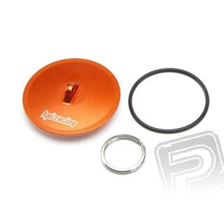 Alu víčko pro vzduchový filtr (oranžový)