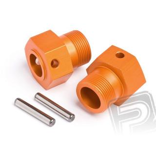 Unašeč kola ALU 24x27mm (oranžová/2ks)