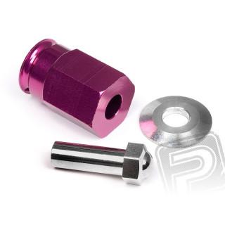 Alu unašeče kol 12mm (24mm / fialové)