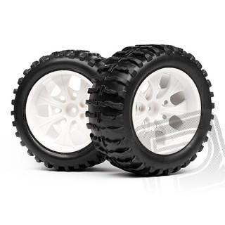 1/10 MT chromové disky & nalepené gumy