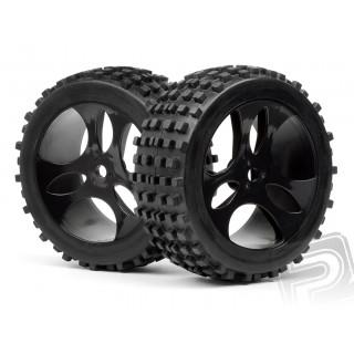 Gumy nalepené na černých diskách, 2ks. (Vader XB)