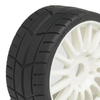 Challenge RALLY (silniční profil) nalepené gumy, bílé disky, 2ks.