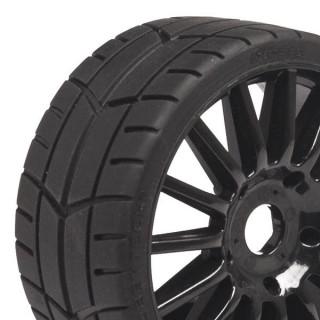 Challenge RALLY (silniční profil) nalepené gumy, černé disky, 2ks.