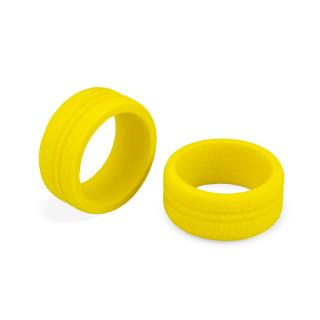 Dirt Wheel - mechový kroužek, žlutý - 2ks.. (pro - Sanwa, Futaba, KO a Spektrum radia)