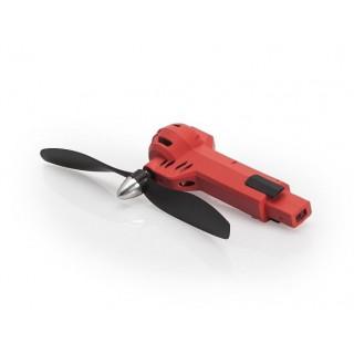 Červené rameno včetně motoru a vrtule (CW, červená LED) - Gravit Dark Vision