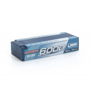 P5-HV Mid Shorty Stock Spec GRAPHENE-2 6000mAh Hardcase battery - 7.6V LiPo - 120C/60C