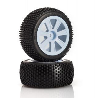 VTEC Kamikaze 4WD zadní, nalepené gumy na černých diskách - 1/10 Buggy J-směs