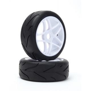 VTEC 1/8 Off-Road Buggy - Racing Slick - nalepené na bílých diskách