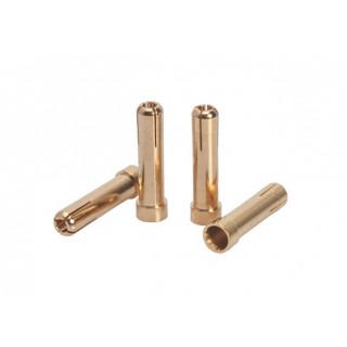 LRP 5mm/G5 na 4mm/G4 Gold Works Team/zlaté konektory (4ks.)