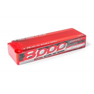 P5-HV TC Stock Spec GRAPHENE-2 8000mAh Hardcase - 7,6V - 120C/60C