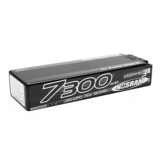 HV Stock Spec GRAPHENE-3 7300mAh Hardcase Akku - 7.6V LiPo - 130C/65C