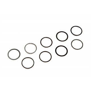 Shims/podložky (ocelové 1.4301/1.4310), 7x9x0,1mm (3), 7x9x0,25mm (3), 7x9x0,4mm (3)