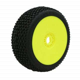 MARATHON (super soft/fialová směs) Off-Road 1:8 Buggy gumy nalepené na žlutých diskách