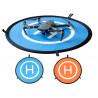 Přistávací plocha pro drony modro - oranžová s možností uchycení k zemi pomocí kolíků (nejsou součástí balení). Průměr 55 cm.
