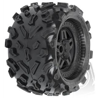 """Big Joe 3.8"""" (40 Series) gumy, nalepené na Tech 5 černých diskách"""