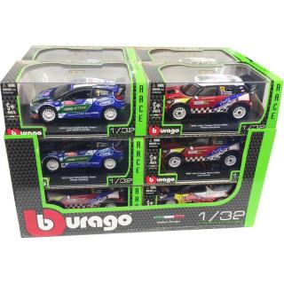 Bburago sada modelů aut Race Rally 1:32 12ks