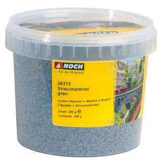 Statický materiál, šedá, 200g