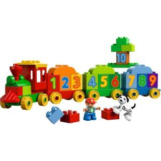 LEGO DUPLO Kostičky - Vláček plný čísel