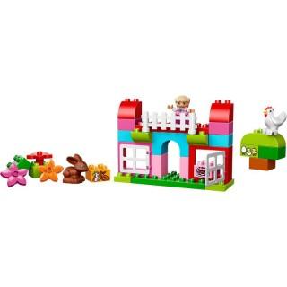 LEGO DUPLO Kostičky - Růžový box plný zábavy