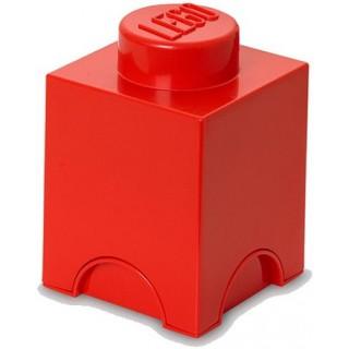 LEGO úložný box 125x125x180mm - červený