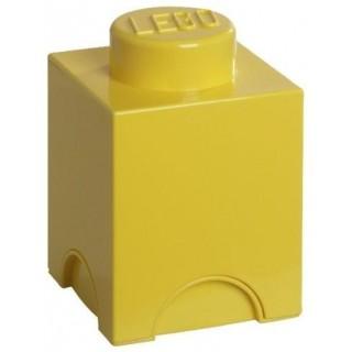 LEGO úložný box 125x125x180mm - žlutý