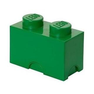 LEGO úložný box 125x250x180mm - tmavě zelený