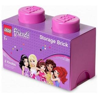 LEGO Friends úložný box 125x250x180mm - růžový