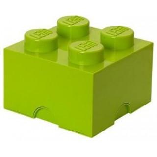 LEGO úložný box 250x250x180mm - světle zelený