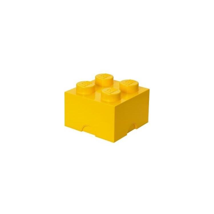 LEGO úložný box 250x250x180mm - žlutý