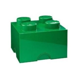 LEGO úložný box 250x250x180mm - tmavě zelený