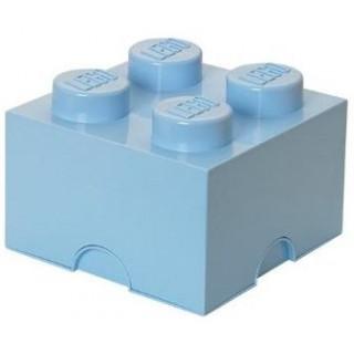 LEGO úložný box 250x250x180mm - světle modrá
